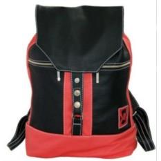 Кожаный рюкзак Красное и черное