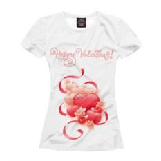 Женская футболка Валентинов день