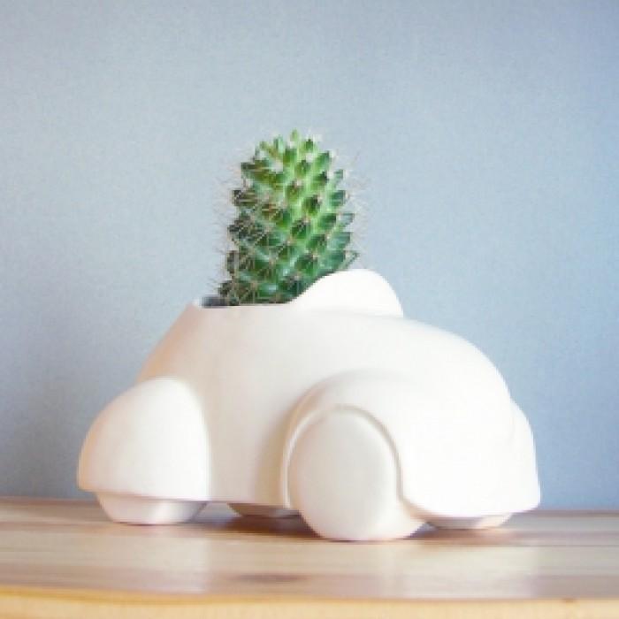 Керамическая фигурка для выращивания растений Эко Машинка