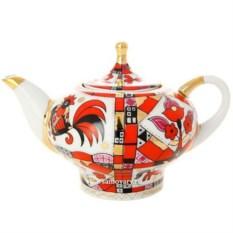 Фарфоровый чайник Красный конь