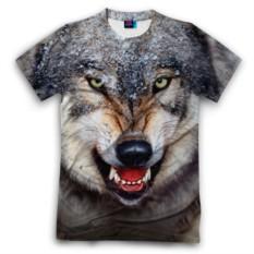 Мужская футболка 3D с полной запечаткой Волк