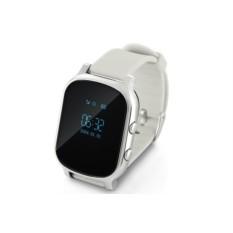 Серебристые умные детские часы с GPS Smart Baby Watch T58