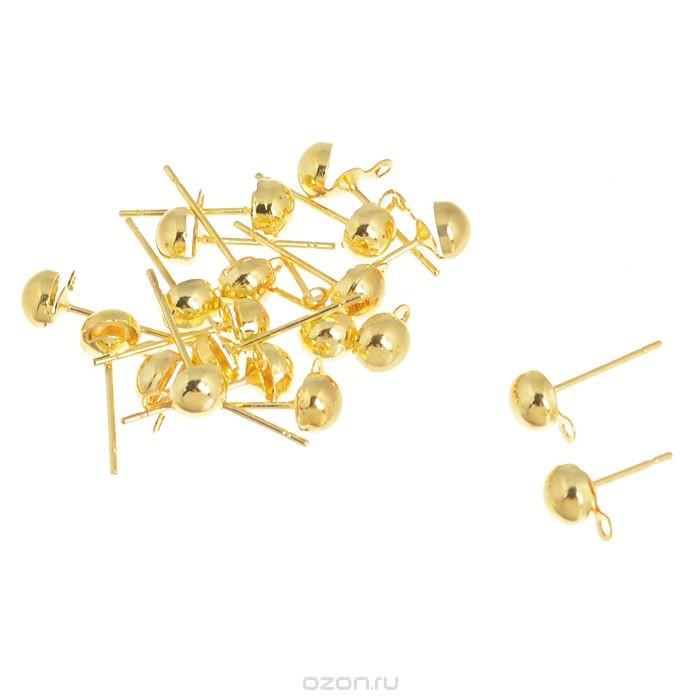 Золотистая основа для серег Астра Гвоздик