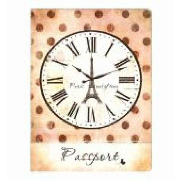Обложка на паспорт Париж, часы