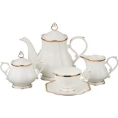 Бежевый чайный сервиз на 6 персон Павлин