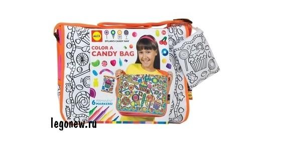 Набор Раскрась сумку с узором из конфет