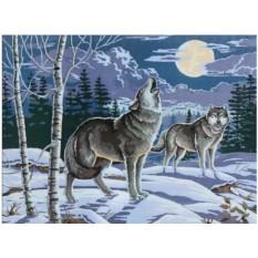 Картины по номерам «Волчья песня»