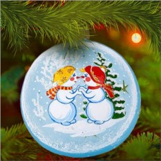 Елочная игрушка «Снеговички»