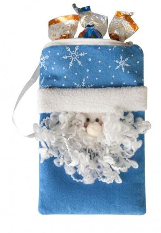 Сумочка-мешочек «Дед Мороз»