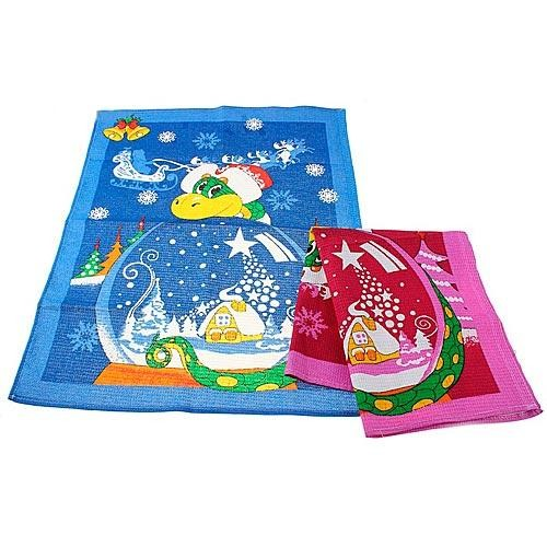 Полотенце кухонное новогоднее «Змея на шаре»