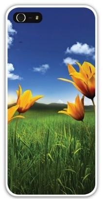 Чехол-накладка для iphone 5/5S желтые цветы