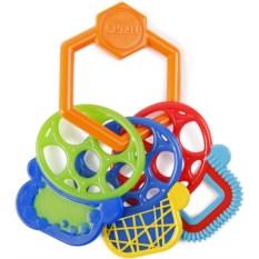 Погремушка-прорезыватель Oball Разноцветные ключики