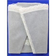 Льняная скатерть с Вологодской кружевной вышивкой