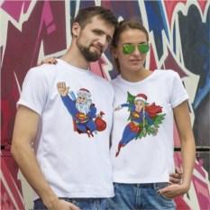 Парные футболки Мороз и Снегурка