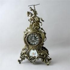 Бронзовые каминные часы Дон Жоан