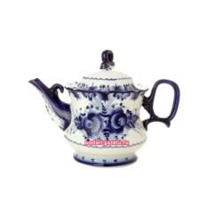 Чайник заварочный керамический Гжель. Летний сад