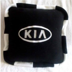 Черная с кантом подушка Kia