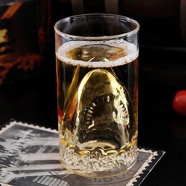 Бокал с двойным стеклом Улыбка акулы
