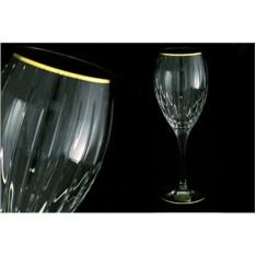 Набор бокалов для вина Пиза. Золотой ободок