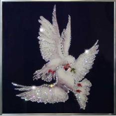 Картина с кристаллами Swarovski Мир вашему дому