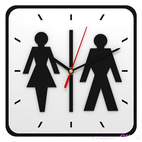 Настенные часы «Туалет»