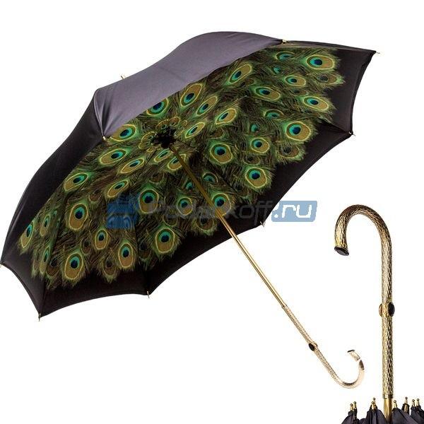 Зонт-трость Pasotti Nero Hawaii Oro