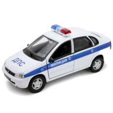 Модель машины Welly LADA Kalina МИЛИЦИЯ ДПС
