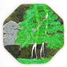 Большой магнит из камня с рисунком Восьмигранник