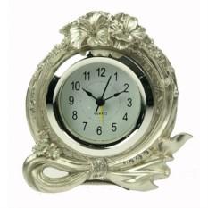 Часы-будильник Серебряный гибискус
