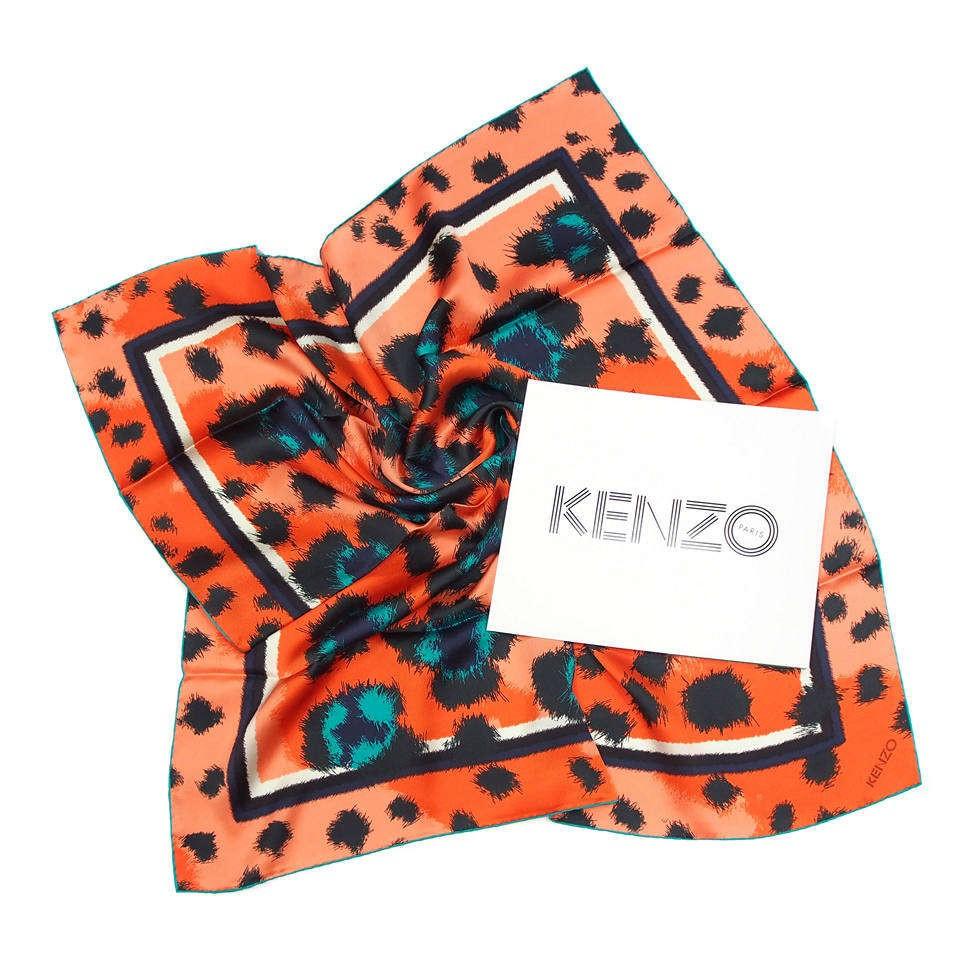 Стильный шелковый платок Kenzo Homme