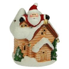 Новогодний сувенир Дед Мороз в домике
