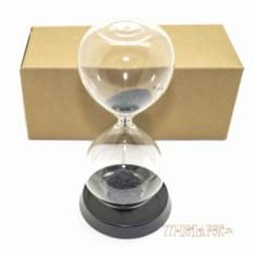 Песочные магнитные часы (высота 16 см, черный песок)