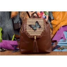 Женский рюкзак с принтом Бабочка и ноты