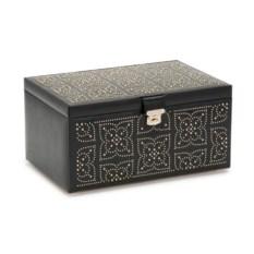 Черная шкатулка для украшений с клепками Wolf Marrakesh