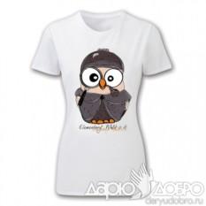 Женская футболка с совой Шерлок