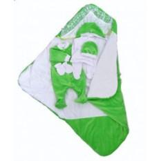 Комплект на выписку Зеленый летний плед-трансформер