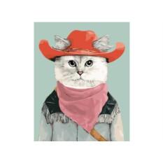 Картина по номерам «Ковбойский кот»