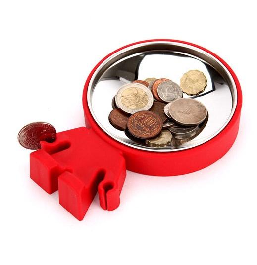 Тарелка для монет Big Head красная