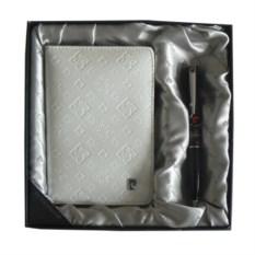 Набор ручка и белая обложка для документов Pierre Cardin