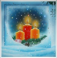 Картина из кристаллов Сваровски Зима 2