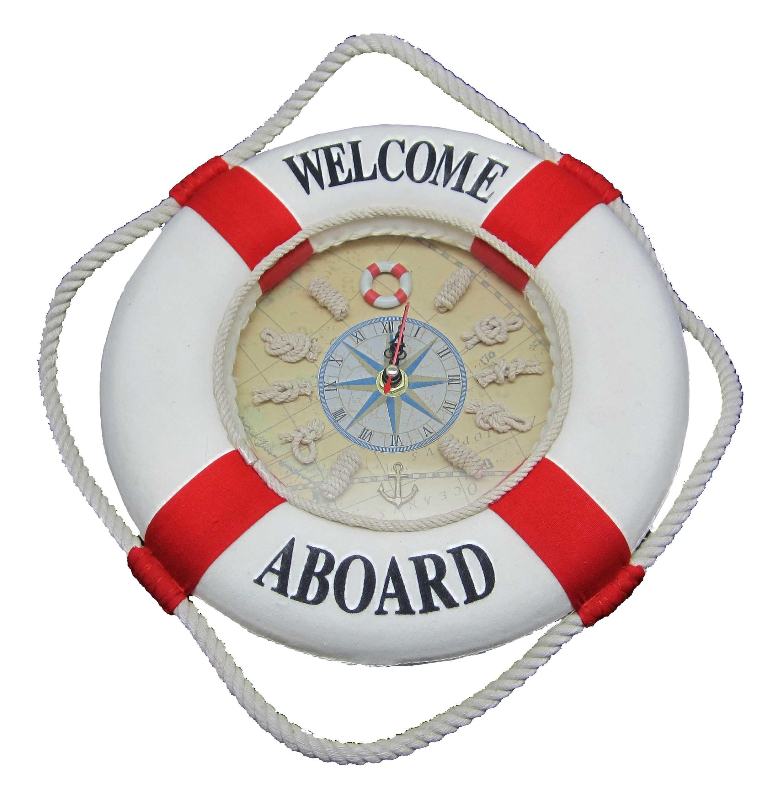 Часы настенные Спасательный круг красные