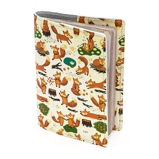 Кожаная обложка для паспорта Little Foxies