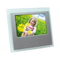Серебристая рамка для фотографии 10х15 см