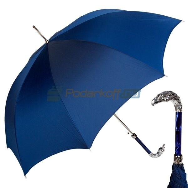 Зонт-трость Pasotti Eagle Silver Oxford Blu