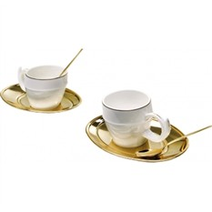 Чайный сервиз Ricciolo на две персоны, золото