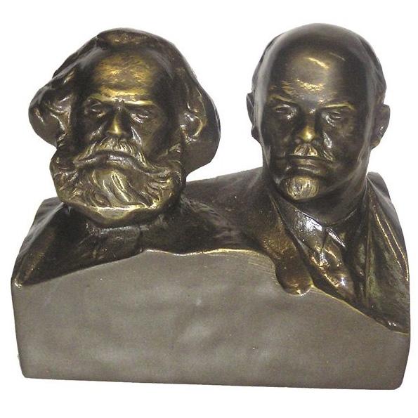 Бронзовый бюст «Маркс и Ленин»