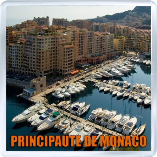 Магнит на холодильник: Монако. Пристань в Монако