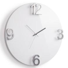 Белые настенные часы Еlapse