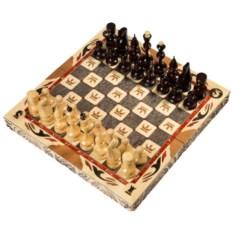 Резные средние шахматы ручной работы с гербом
