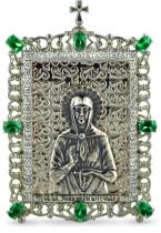 Настольная серебряная икона с образом святой блаженной Матроны Московской